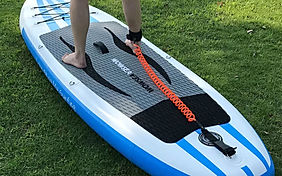 SUP Rental Hamburg leash test