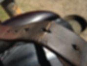 Saddle billet repair - cracked leather