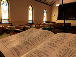 Holy Bible at the Lectern