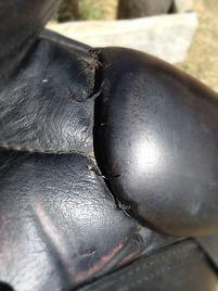 Saddle stitchng repair: broke