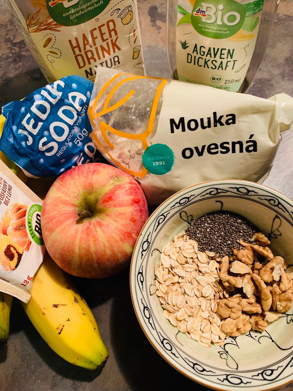 Pure vegan dessert recipe | Pure diet | vegan recipe | banana oat cake ingredients