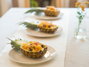 Coo-Lao sweet and sour pure vegan pineapple risotto