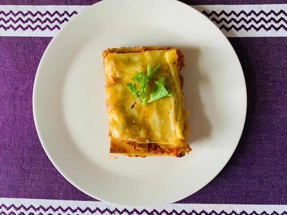 Pure vegan recipe | How to make a tasty vegan lasagna? | Vegan italian lasagna recipe made with granulated soy