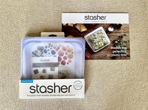 Reusable Stasher silicone bag amethyst