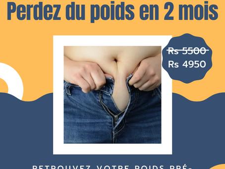 Perdez du poids en 2 mois