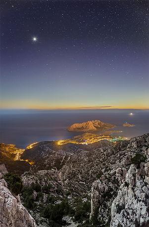 les goudes crépuscule marseille nuit vénus calanque klape