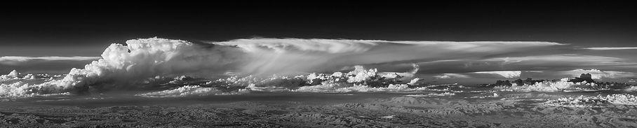 orage vue du ciel thunderstorm aeril view infrared plane