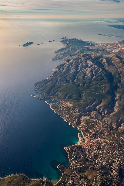 cassis klape marseille vue du ciel city airplane côte d'azur