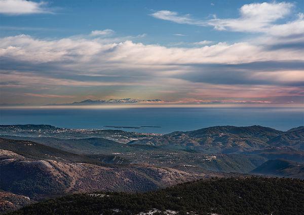 Corse vue du Lachens, avec Cannes, de jours, visibilité var cinto jour paglia orba fréjus