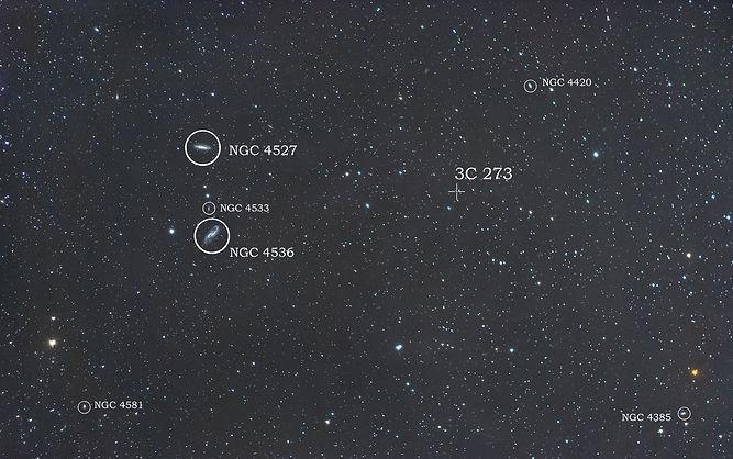 quasar 3c 273 galaxy stars galaxie NGC nikon