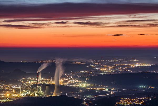 centrale gardanne aix-en-provence marseille crepucule coucher soleil st victoire