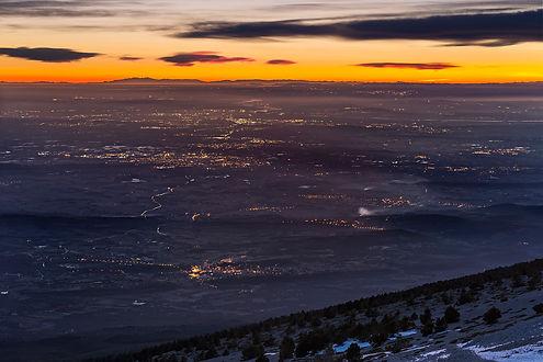 mont ventoux pyréennées massif canigou horizon créuspuscule lenticulaire klape