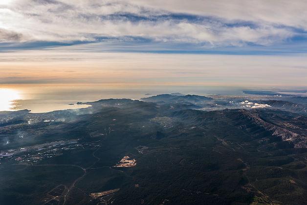 klape vue du ciel marseille sainte baume ciotat aerial view