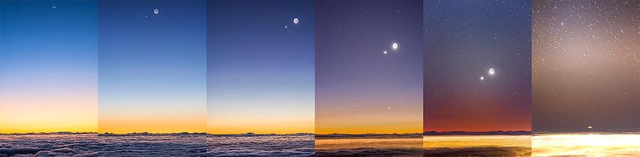 coucher lune maido la réunion mer nuage vénus