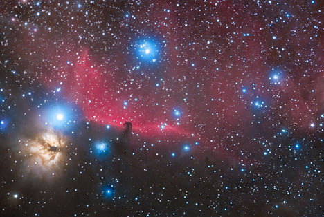horsehead nebula flamme têt cheval flamme IC galaxy nébuleuse astrophotograhy astrophoto corse klape nightsky stars