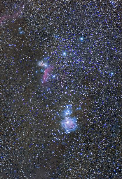 orion corse astrophotographie nebleuse m42 cheval tête flamme barnard loop klape