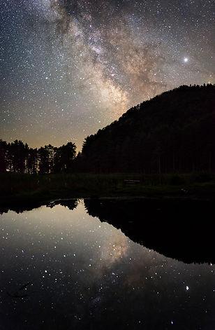 Voie lactée lac creno corse milky way lake corsica stars astrophoto