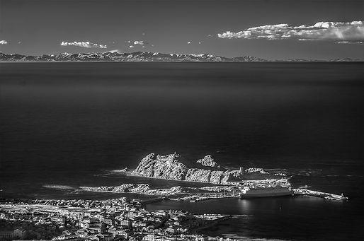 ile rousse alpes maritimes infrarouge klape vue continent