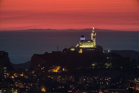 Le Canigou, Notre dame garde, Marseille klape vue de allauch massif