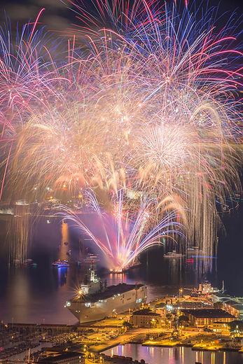 artifice toulon mont mer feux 14 juillet