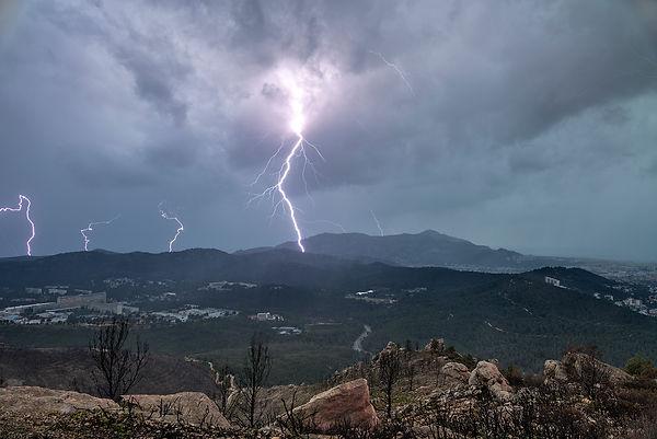 orage luminy marseille calanque col gineste marseilleveyre foudre éclair