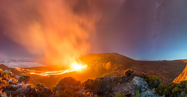 la réunion éruption piton de la fournaise 11 septembre 2016 panorama klape