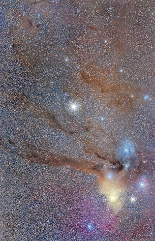 Rho ophiuchi nébuleuse nebulae night stars milky way klape