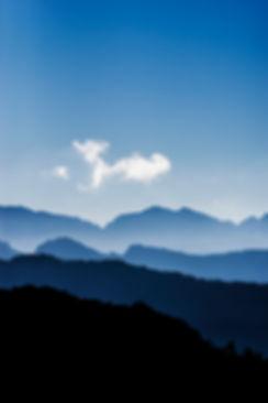 corse montagne sommet crete nuage klape