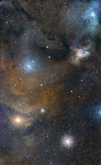 Rho Ophiuchi nebula sky astro klape corse