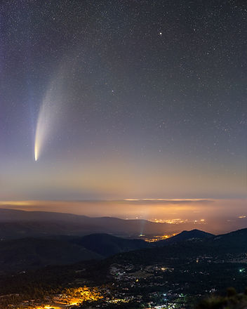 Comet neowise comète france 2020 night astro klape