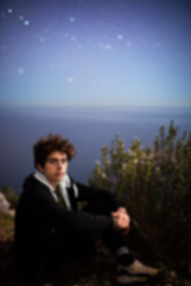 portrait nigt stars moonlight lune calanques marseille