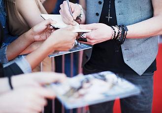 Articles de signature de célébrité pour