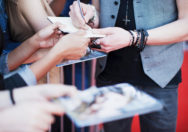 Celebrity Signing Items for Fans