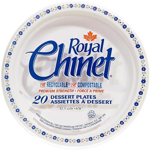 "6"" Dessert Plate White Royal Chinet 4 x 250"
