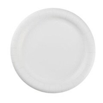 """6"""" Uncoated Paper Plate White 10 x 100"""