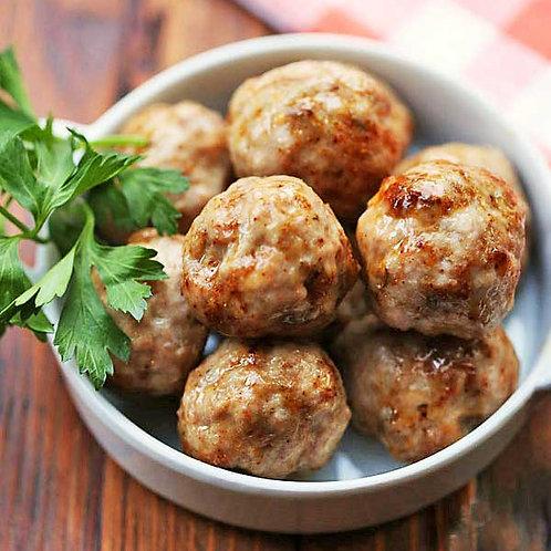 Plain - Pork meatballs, un-sauced 5 kg box