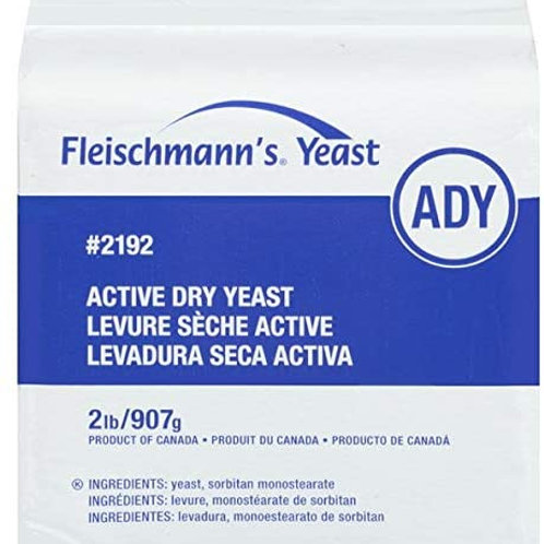 Active dry yeast - Fleishman  12 x 2 lbs