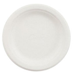"""9"""" Uncoated Paper Plate White 12 x 100"""