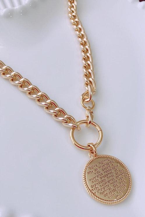 Colar Medalha Salve Rainha