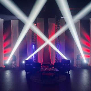 Studio seating and lighting