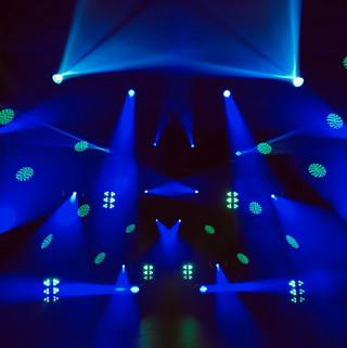 DJ lighting set up