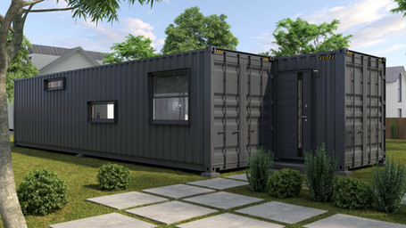 Home made from 2x40ft shiping container