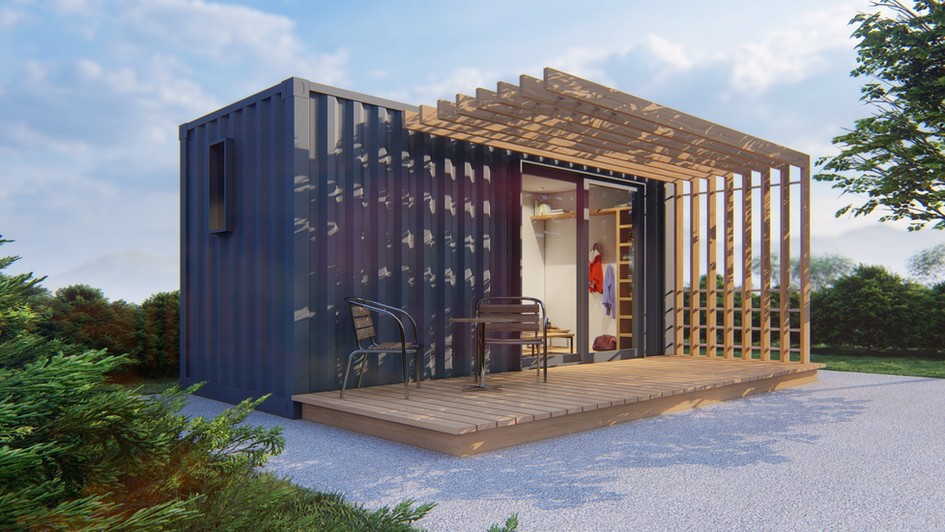 Studio made from 20ft shipping container