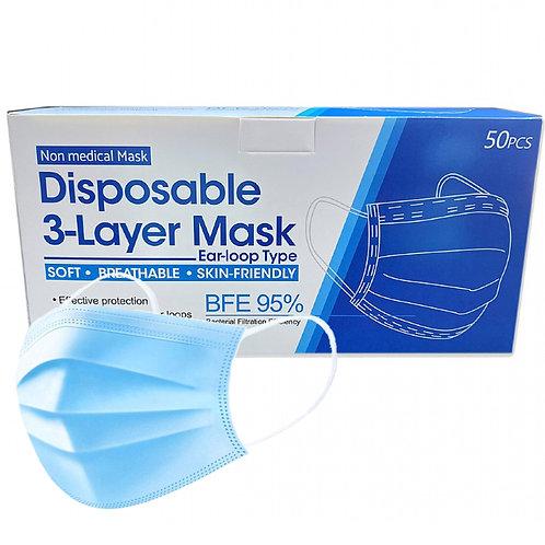 Face Mask Elastic Type 50pcs Pack