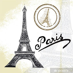 plakater-frankrig-paris-handtegnet-eiffe