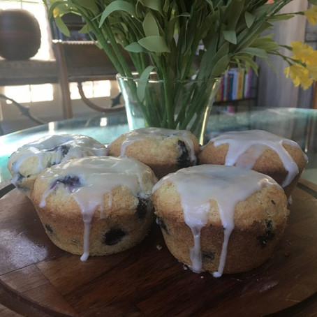 Gluten-Free Lemon Blueberry Poppyseed Muffins