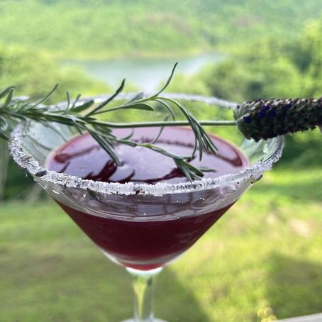 Lavender Blueberry Martini