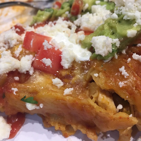 Game Day Chicken Enchiladas