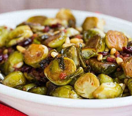 Brussel Sprouts w/ Cranberry and Pine Nuts