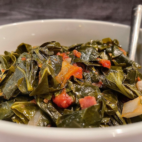 Braised Crock Pot Collard Greens